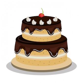 Fijne verjaardagstaart ontwerp