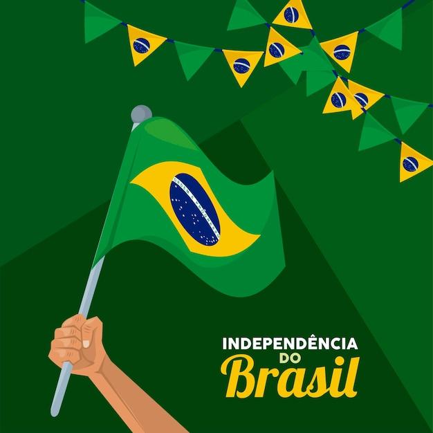 Fijne viering van de onafhankelijkheid van brazilië