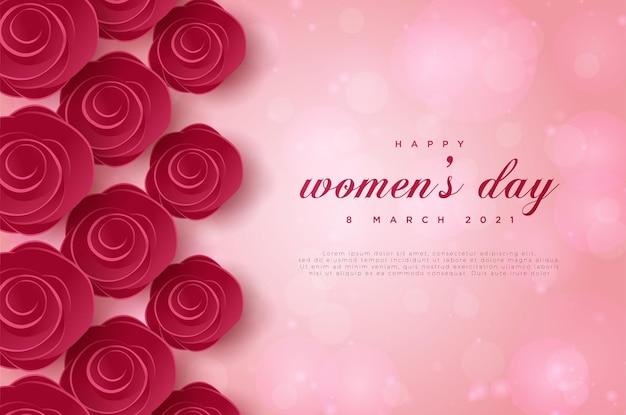 Fijne vrouwendag 8 maart met bloemen