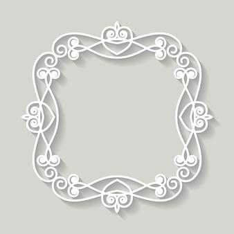 Filigraan kader papier uitgesneden. barok vintage ontwerp