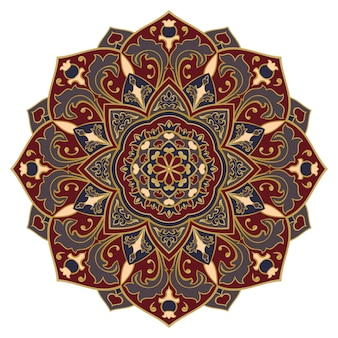 Filigraan kleurrijke mandala. oosterse mandala.