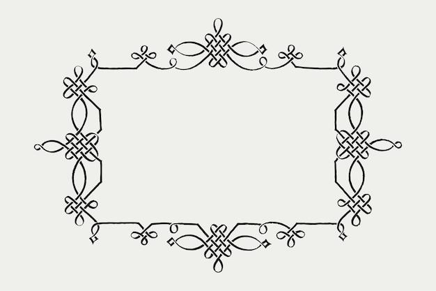 Filigraan victoriaans frame