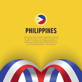 Filippijnen independence day vector template design illustration