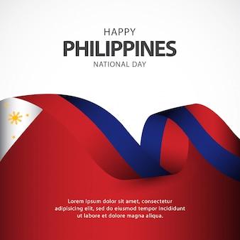 Filippijnen onafhankelijkheidsdag vector sjabloon