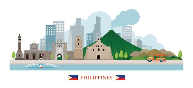 Filippijnen skyline oriëntatiepunten