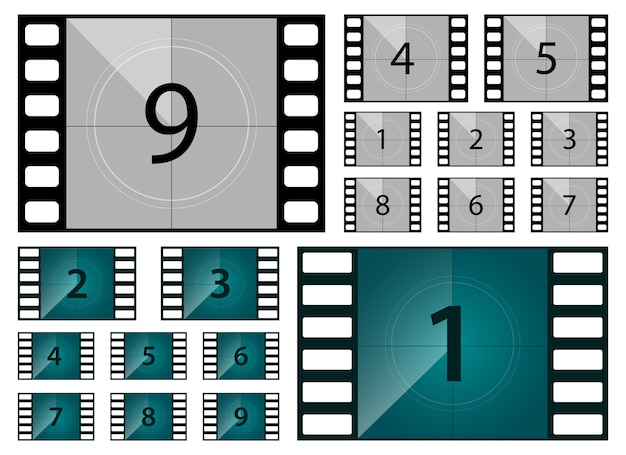Film aftellen illustratie geïsoleerd op een witte achtergrond