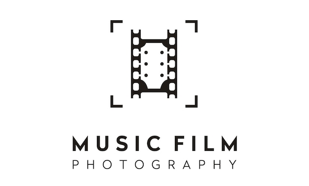 Film foto muziek logo ontwerp