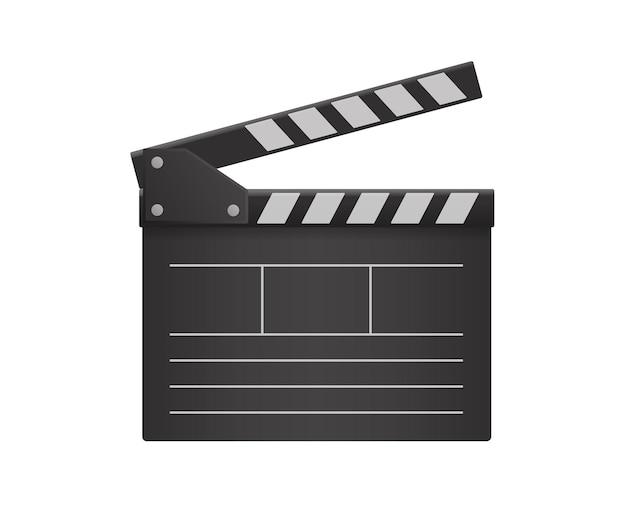Film klepel illustratie op witte muur