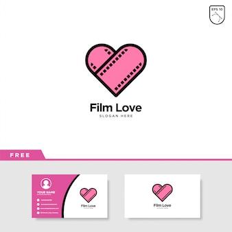 Film liefde logo ontwerp