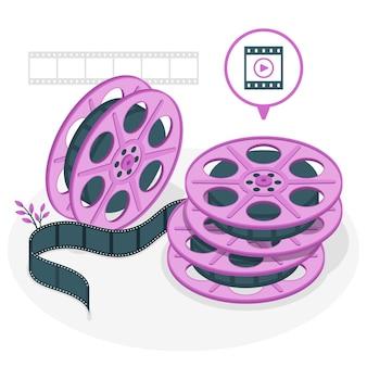 Film rolt concept illustratie