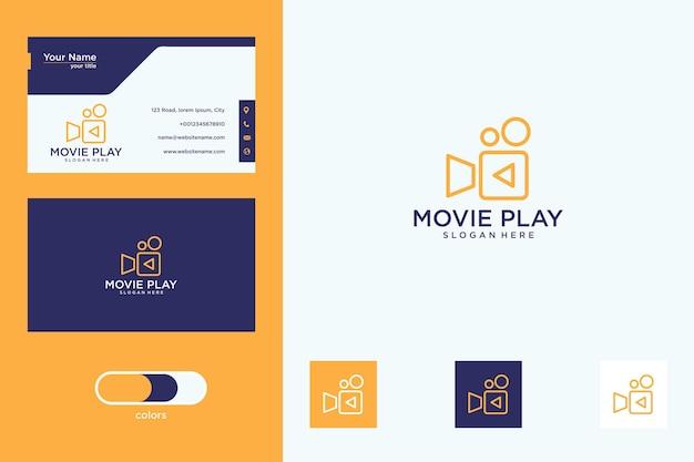 Film speel logo-ontwerp en visitekaartje
