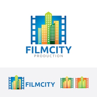 Film stad logo sjabloon