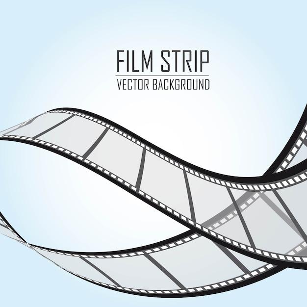 Film strepen over blauwe achtergrond vectorillustratie