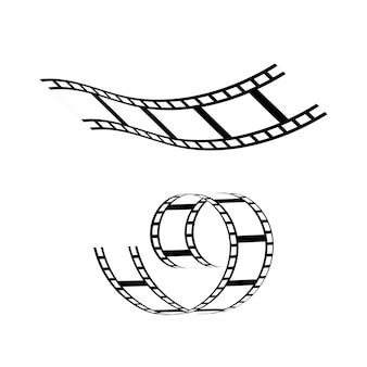 Film strepen pictogram vector sjabloon