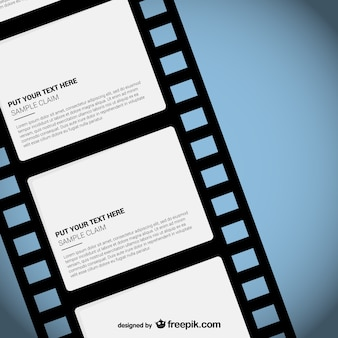 Film strip template