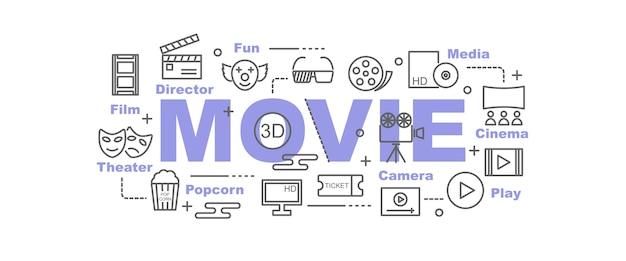 Film vector banner