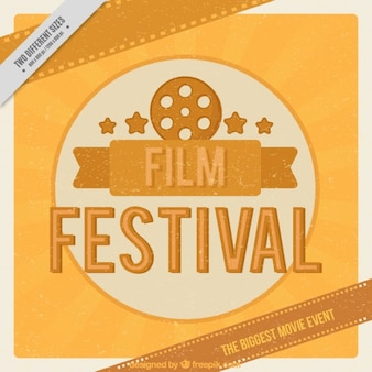 Filmfestival achtergrond in vintage stijl