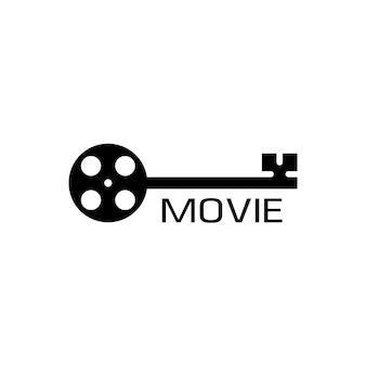 Filmhuis productie logo ontwerp vector