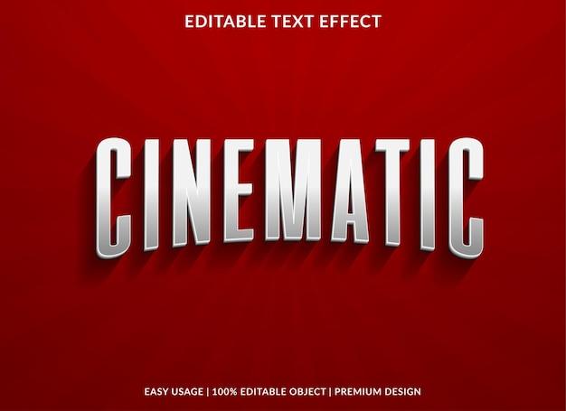 Filmisch teksteffect sjabloonontwerp met 3d-stijl