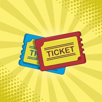 Films ticket plat