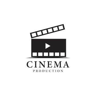 Filmstrip eenvoudig conceptueel logo vectorillustratie