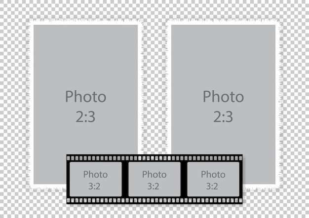 Filmstrip frames collage voor fotoalbum