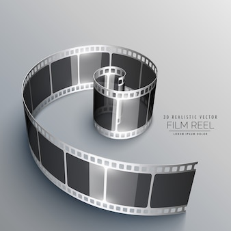 Filmstrook in 3d-opmaak
