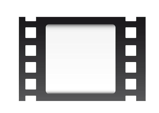 Filmstrook over witte vectorillustratie als achtergrond