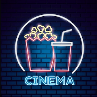 Filmtijd neon teken teken