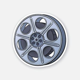 Filmvoorraad vintage cameraspoel filmindustrie oude bioscoopstrip vectorillustratie