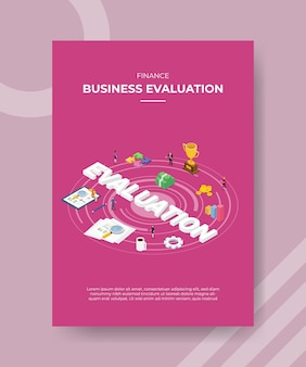 Finance business evaluation flyer-sjabloon