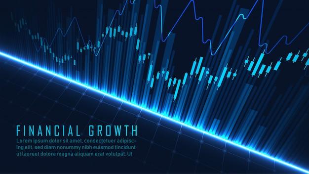 Financieel abstract blauw sjabloon