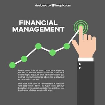 Financieel achtergrond ontwerp