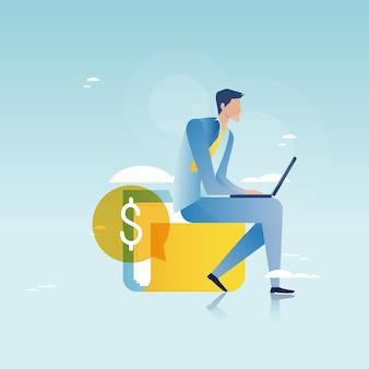 Financieel advies, financiele begeleiding, bedrijfsadviseur, investeringshulp, bedrijfs- en financieringsstrategie en planning van vectorillustratie ontwerp voor mobiele en web graphics