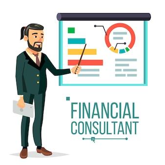 Financieel adviseur illustratie