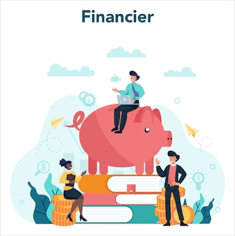 Financieel adviseur of financier concept illustratie
