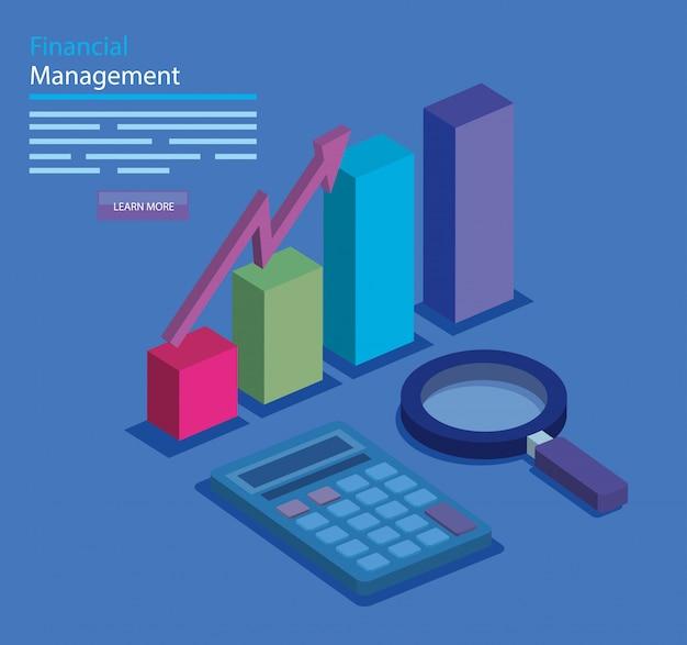 Financieel beheer met infographic