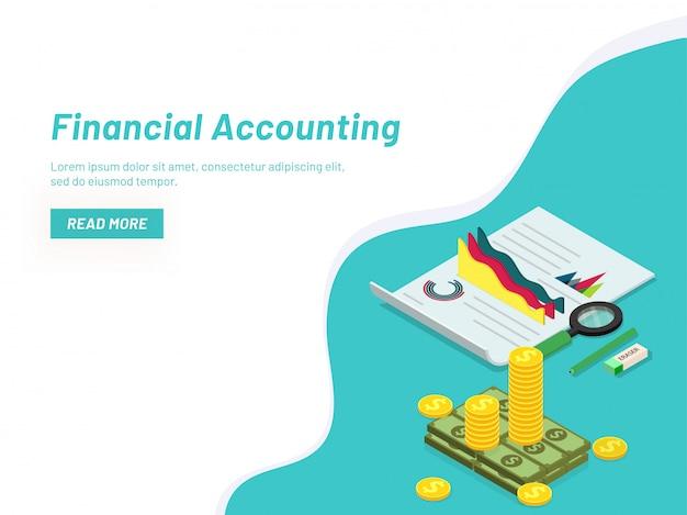 Financieel boekhoudconcept.