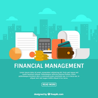 Financieel concept met de stad