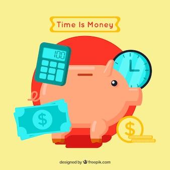 Financieel concept met spaarvarken