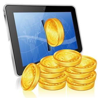 Financieel concept - verdien geld op internet