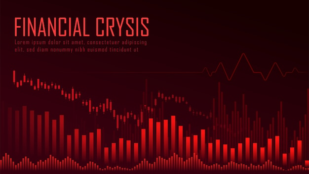 Financieel crysis grafisch concept