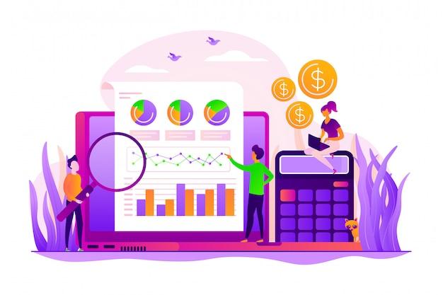 Financieel en it-audit concept.