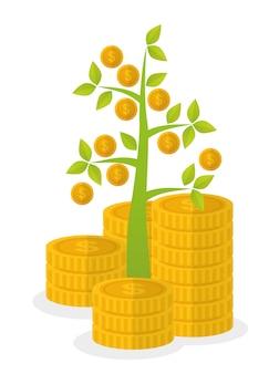 Financieel groeiontwerp.