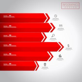 Financieel infographic sjabloonontwerp met statistisch element