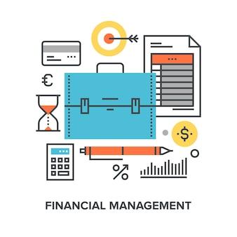 Financieel management concept