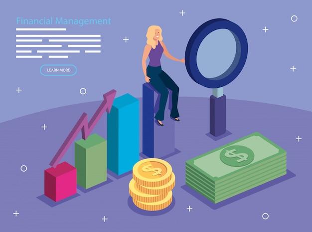 Financieel management met vrouw