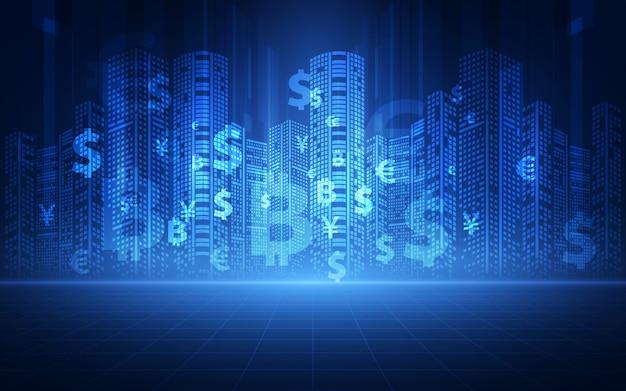 Financieel technologieconcept.