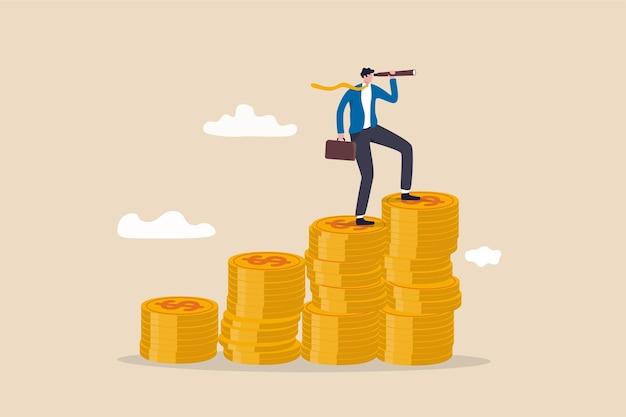 Financieel visionair en investeringsgroeiconcept