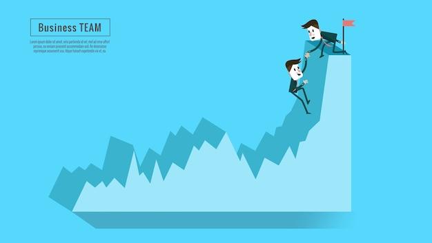 Financiele adviseur of business mentor helpen teampartner tot winstgroei